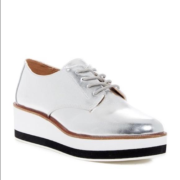 3eb26fce350 Abound Shoes - ABOUND JANEY SILVER PLATFORM OXFORD